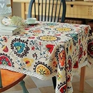 Other - Floral print tablecloth